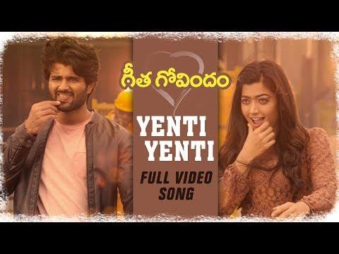 Yenti Yenti Full Video Song Vijay Deverakonda Rashmika Mandanna Gopi Sunder Geetha Govindam Youtube Songs Movie Website Song Images