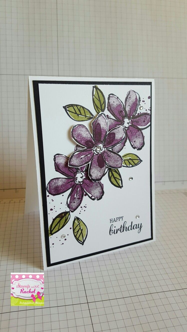 Stampin up Garden in bloom, card i have cased off another pinner. Love it.