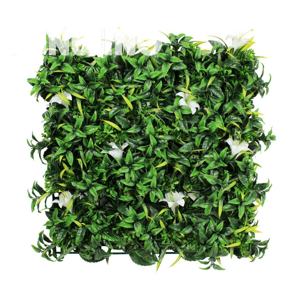 1 SQM Decorative Garden Fence Mats Artificial Plant Leaves with ...