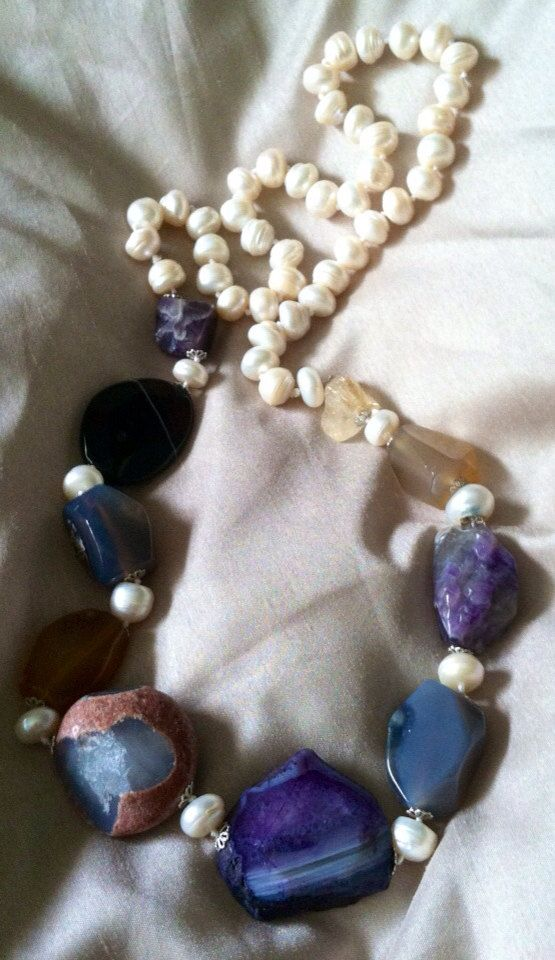 Pearls & Gem Stones on Etsy, $38.00