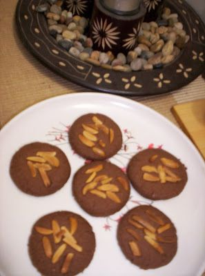 The Singing Chef: Eggless Chocolate Almond Cookies