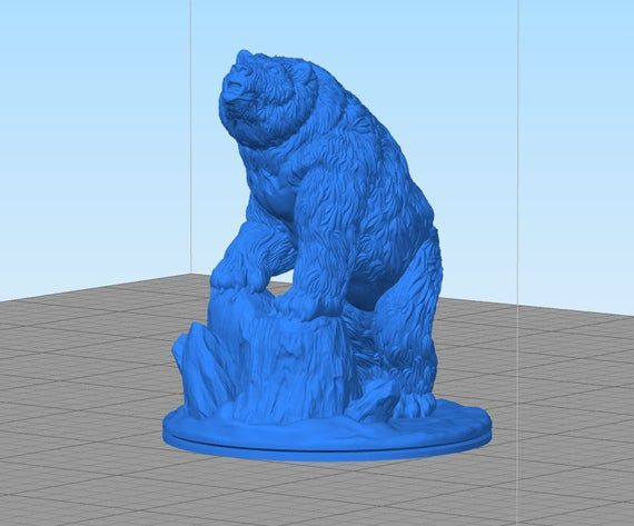 dnd Grizzly or Polar Bear Wilds of Wintertide Arctic Ice Age Animals Wargaming Terrain | Dungeons an #wargamingterrain