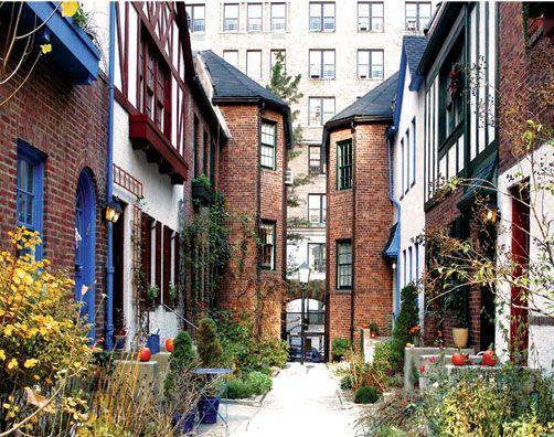 pomander walk nyc on the upper west side new york. Black Bedroom Furniture Sets. Home Design Ideas