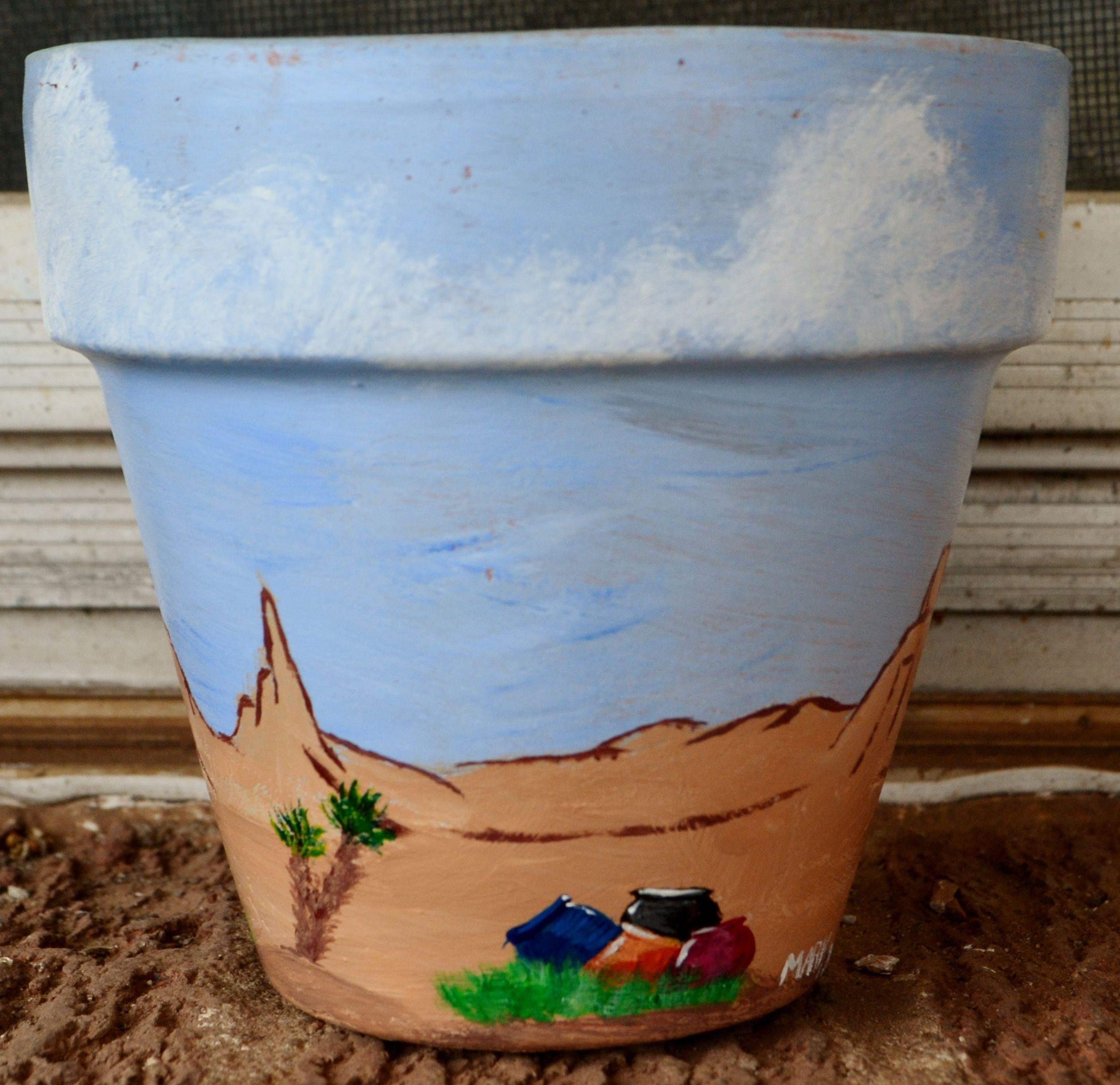 Desert Flower pot  4 inch pot