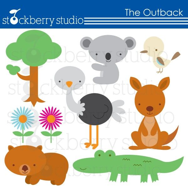 Popular Items For Australian Animal On Etsy Australian Animals Clip Art Cute Clipart