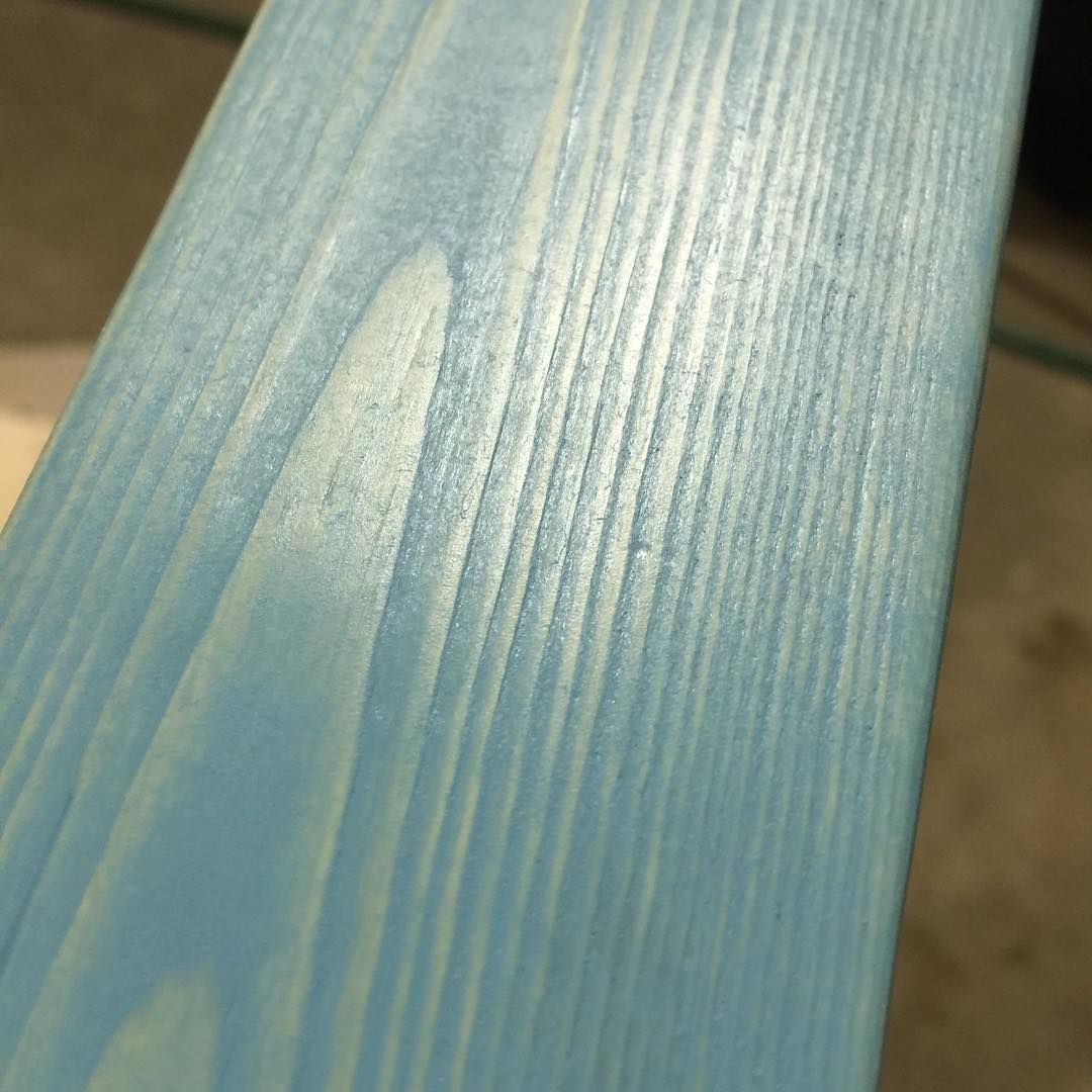 Trying Out Vintage Aqua Wood Stain For The First Time I