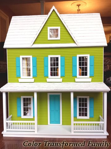 Diy Dollhouse Color Transformed Family Dollhouse Ideas Diy Dollhouse Dolls Dollhouse Toys