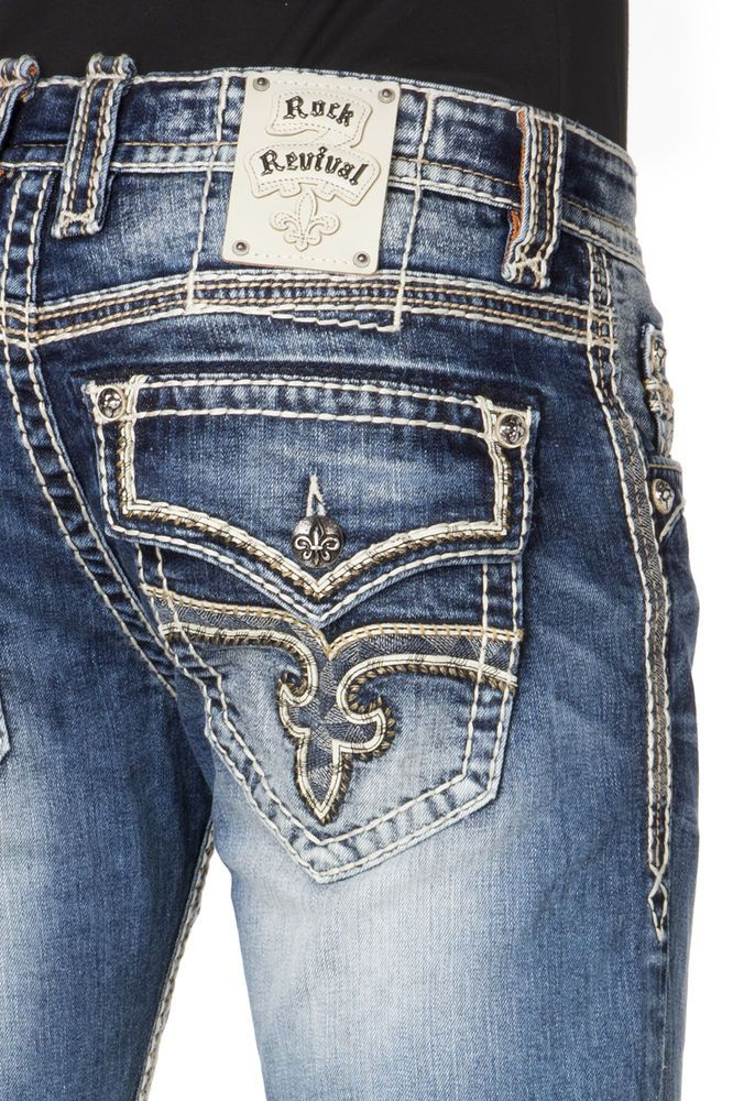 NEW Buckle Men's ROCK REVIVAL Low Rise Marlin Straight Stretch ...