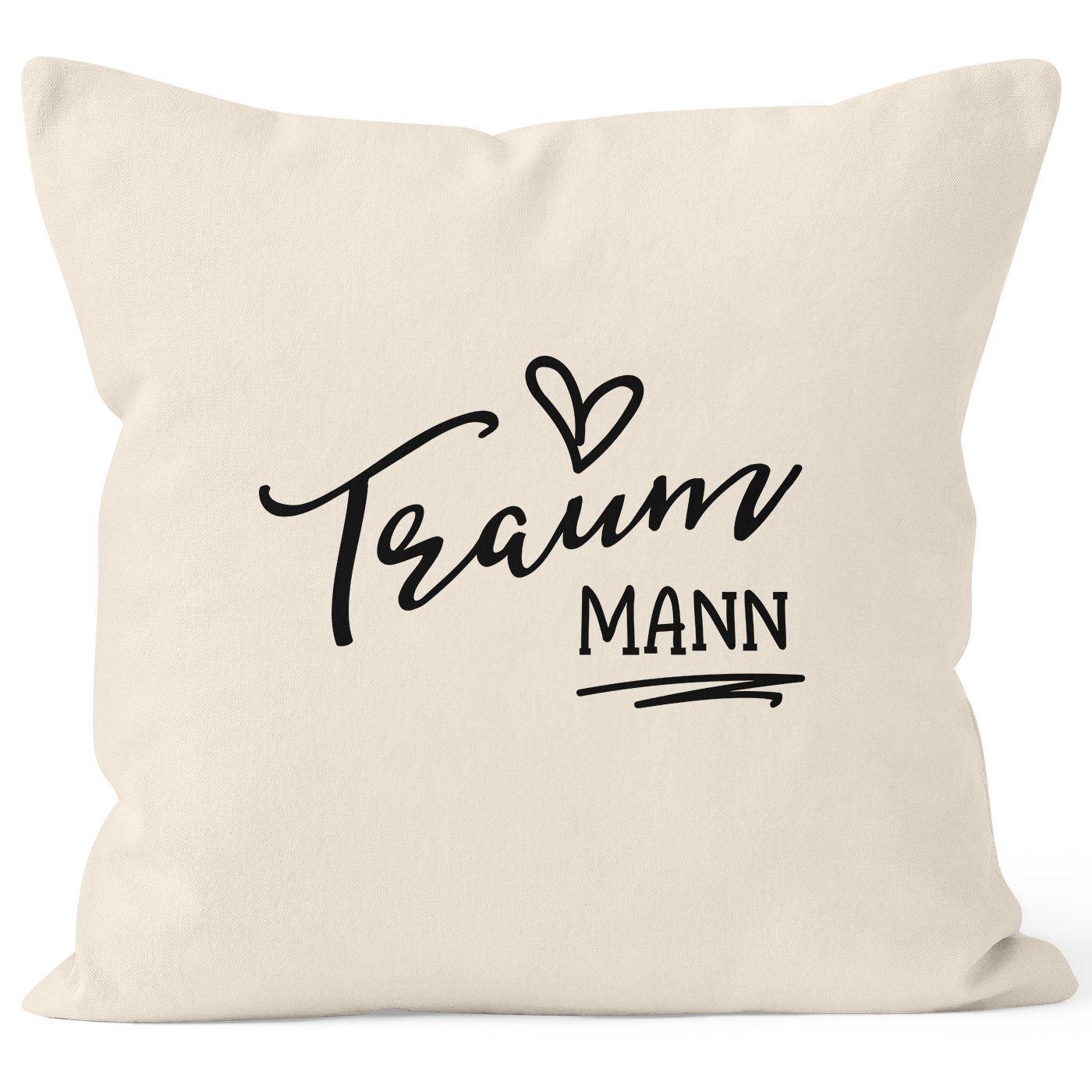Baumwoll-Kissen Motiv Traum-Mann 40x40cm Valentinstag Geschenk Sofakissen Deko