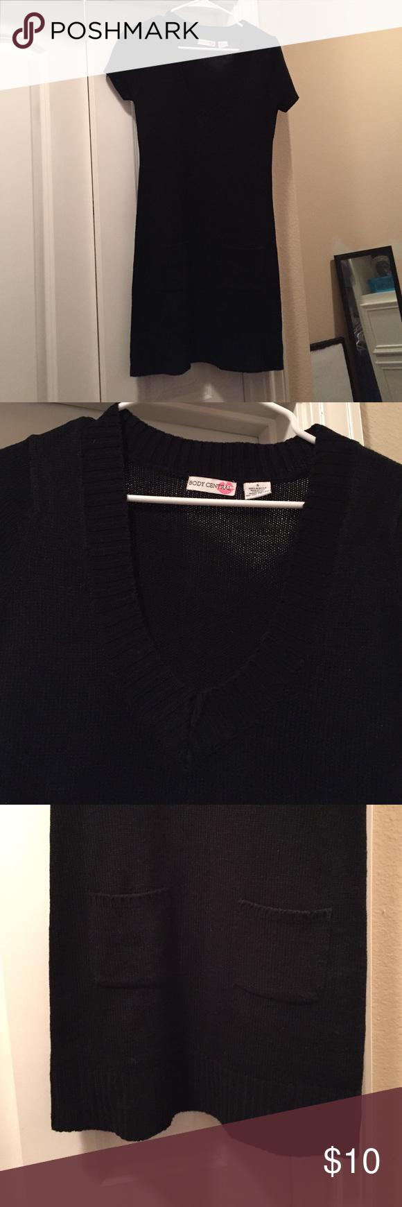 Sweater dress | Black sweater dress, Body central and Solid black
