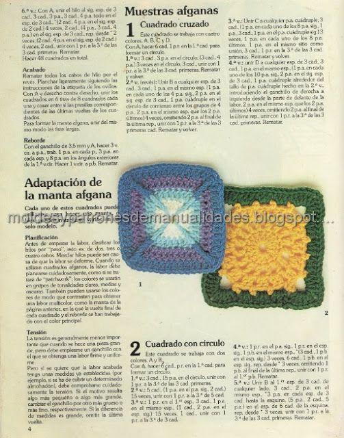 PATRONES CUADRADOS CROCHET AFGANO | CROCHET | Pinterest