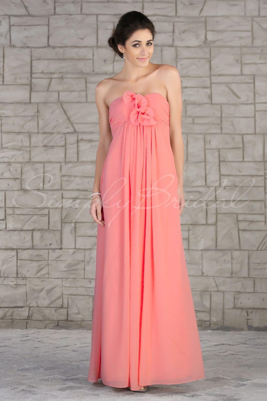 85204 - Floor Length Sweetheart Strapless Chiffon Dress