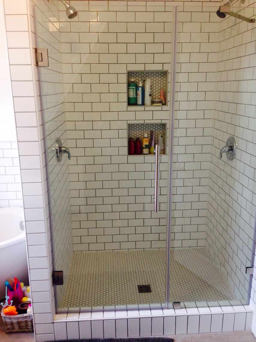 Double head shower master bath