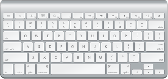How to Draw an Ultra Clean Apple Keyboard with Photoshop