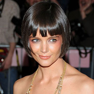 Groovy Bob Bangs Katie Holmes And My Hair On Pinterest Hairstyle Inspiration Daily Dogsangcom
