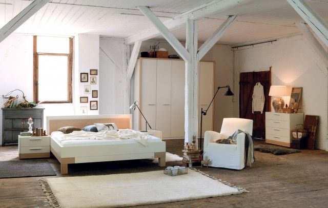 painted beams; bedroom; white My Home Style Pinterest Painted