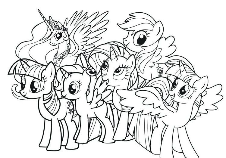 My Little Pony Coloring Pages Full Size My Little Pony Buku Mewarnai Rainbow Dash