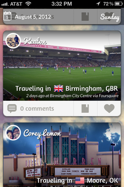 Tripl keeps tabs on your friends' travels in a beautiful way