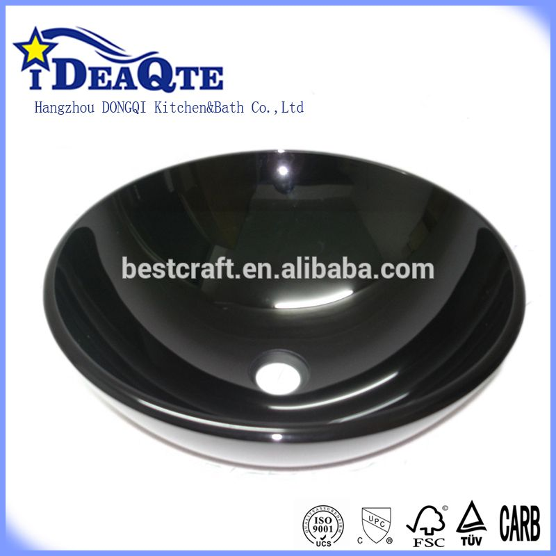 Black Glass Round Bowl Laundry Sink Alibaba Black Glass Sink