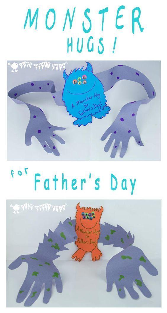 Fathers Day Crafts for Preschoolers - Make Dad smile! Hug