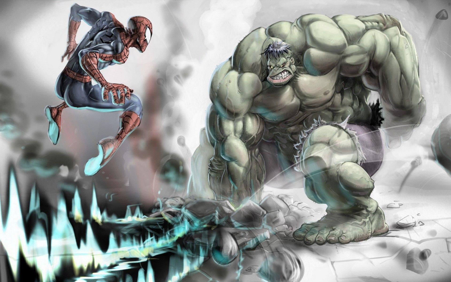 hulk vs spidermanjpg 19201200