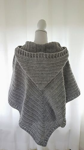 Hooded Poncho Pattern By Frisian Knitting Crochet Poncho
