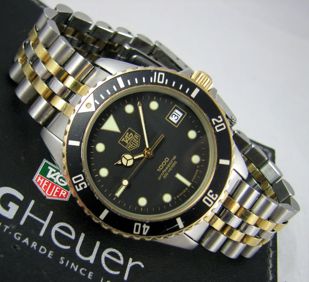 fce147e2b1a TAG HEUER Professional 1000 Mens Vintage Submariner Watch Swiss Made 980.020