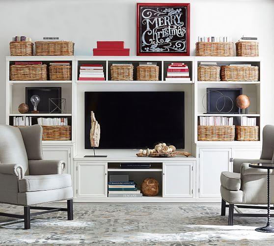 Logan Media Suite With Door Bookcase U0026 Bridge | Pottery Barn
