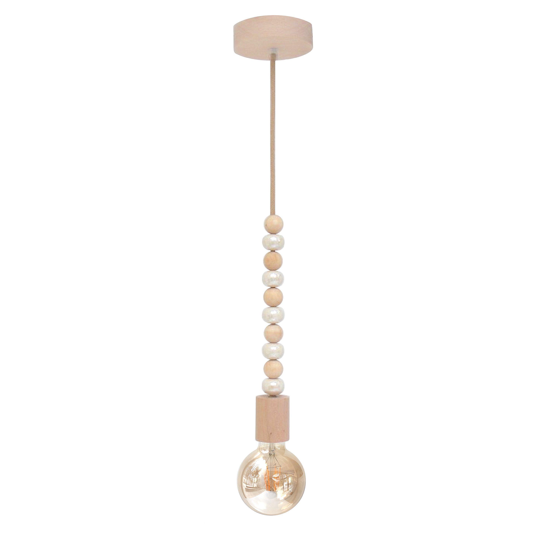 85 Charming Rustic Bedroom Ideas And Designs 4 In 2020: Wood Bead Pendant Light Boho Chandelier Modern Rustic