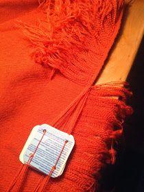 Hibernaatiopesäke: Laudoilla kudottu yksityiskohta / tablet woven detail