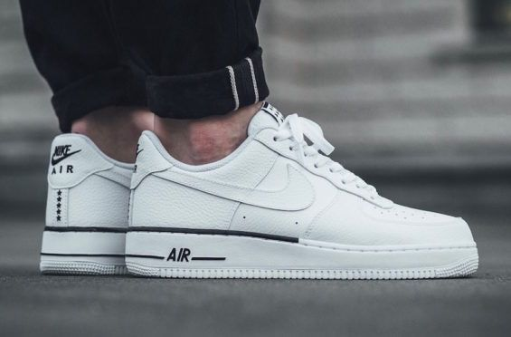White Tumbled Leather Covers The Nike Air Force 1 Low | Nike