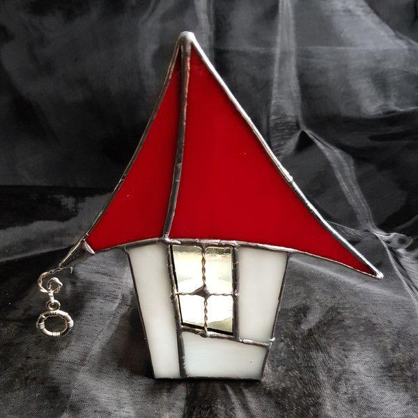 Tiffany Weihnachtsmotive.Accessoires Weihnachtsdeko Tiffany Teelicht Weihnachtshaus Ein