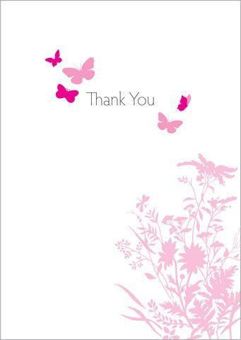 Thank You Thank You Cards/Condolences Pinterest Condolences - butterfly thank you cards