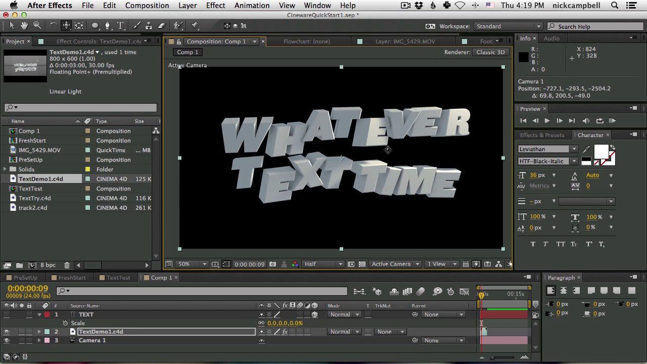 Cineware and Cinema 4D Lite For After Effects Users | AE Projects ...