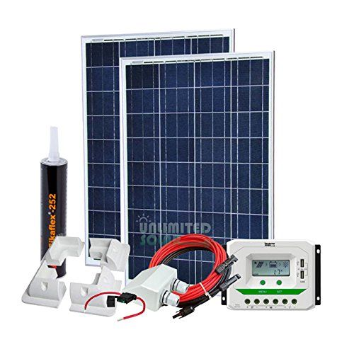 Unlimited Solar 200 Watt 12 Volt Sunmar Rv Solar Panel Kit With Abs Mounts You Can Find More Details Solar Panels For Home Rv Solar Panels Solar Panel Kits