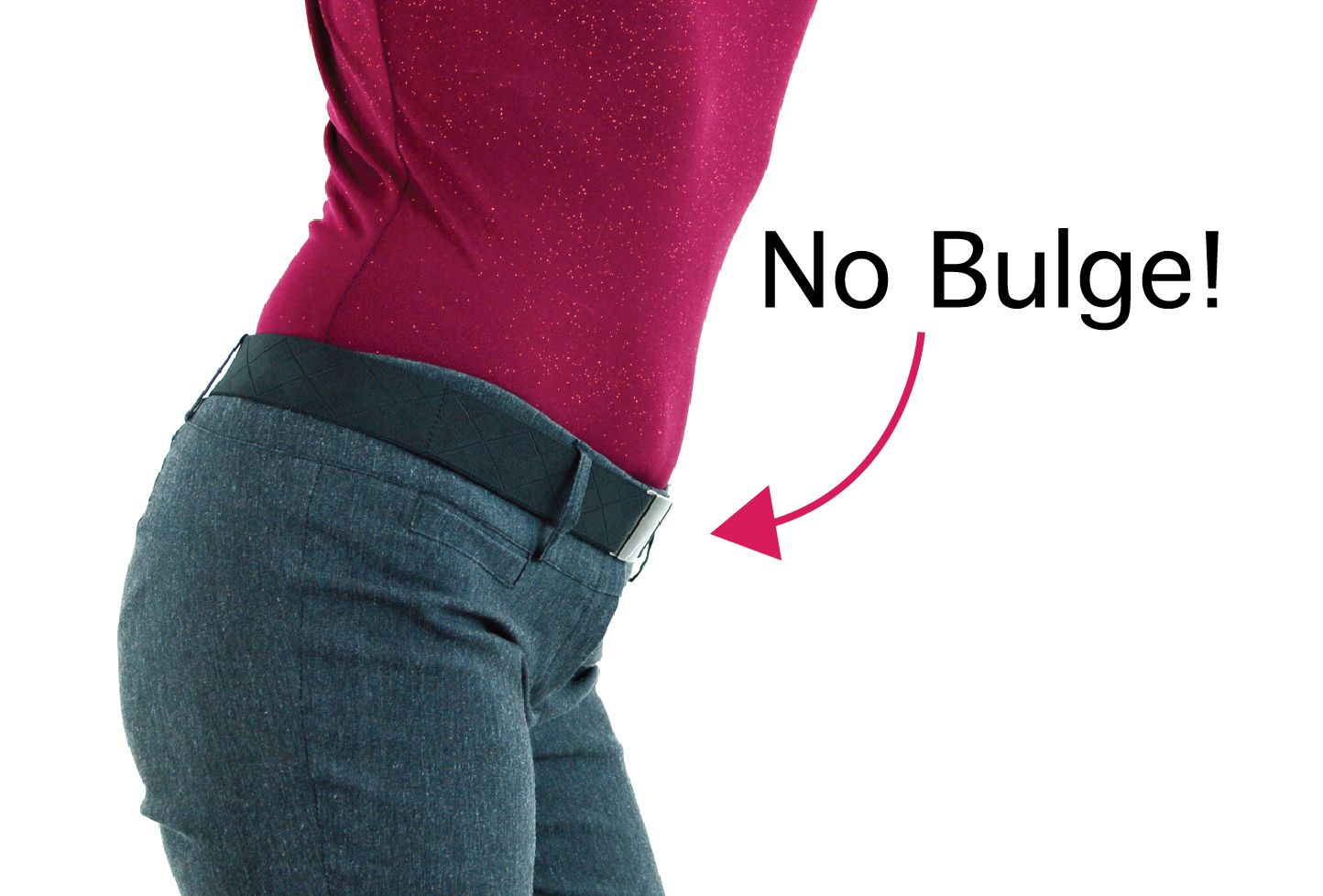 Finally! A belt with a flat buckle! This belt is made from