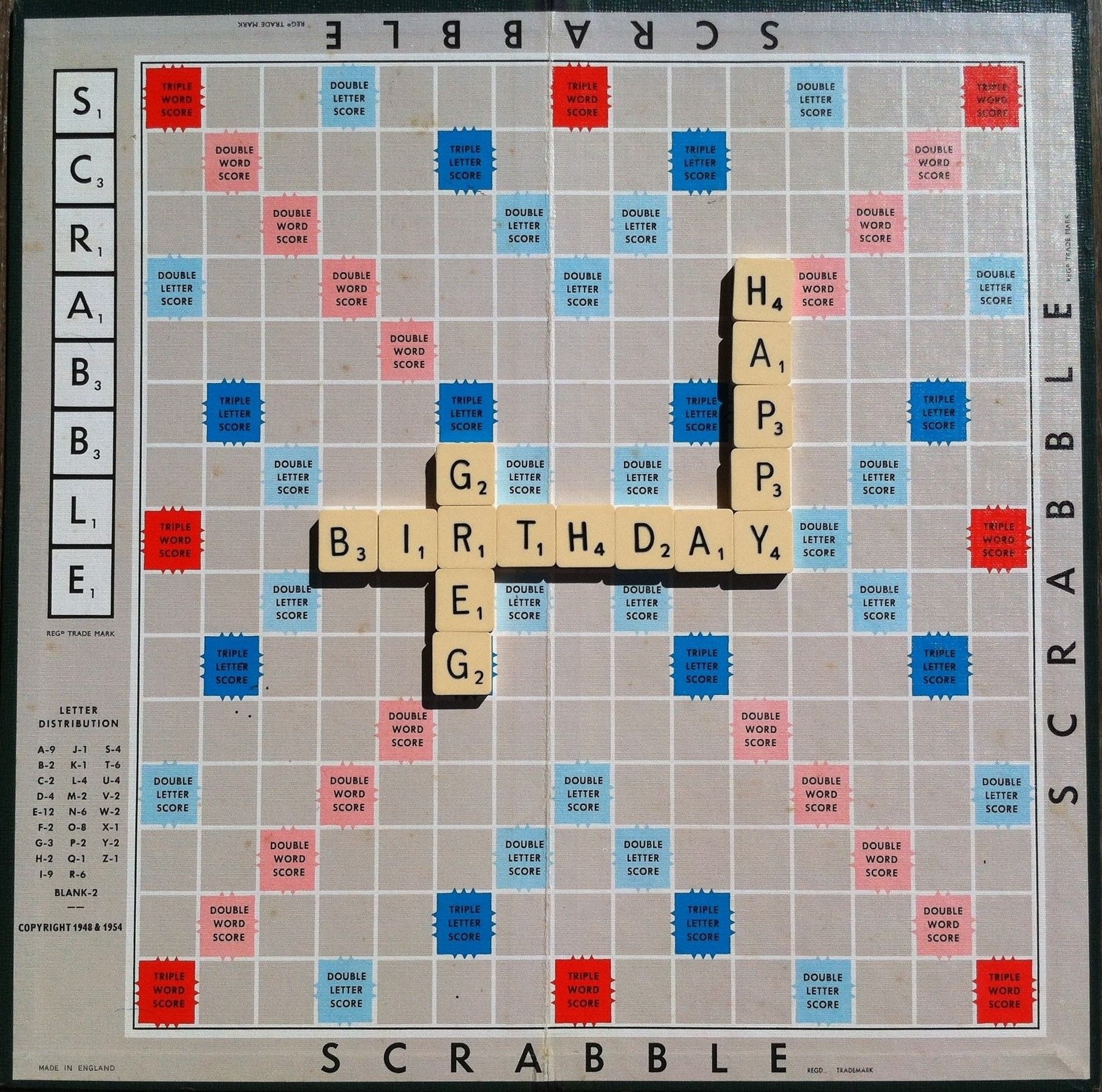 Birthday Message Sent As An E Card Using Scrabble Tiles Birthday Messages Happy Birthday Messages Happy Birthday Greetings