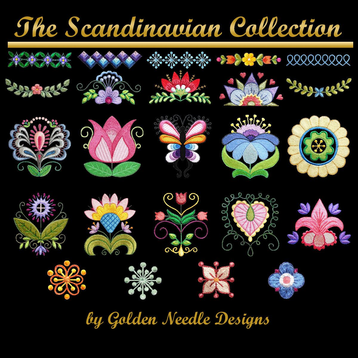 Scandinavian Collection Machine Embroidery Designs Scandinavian Embroidery Floral Machine Embroidery Designs Folk Embroidery