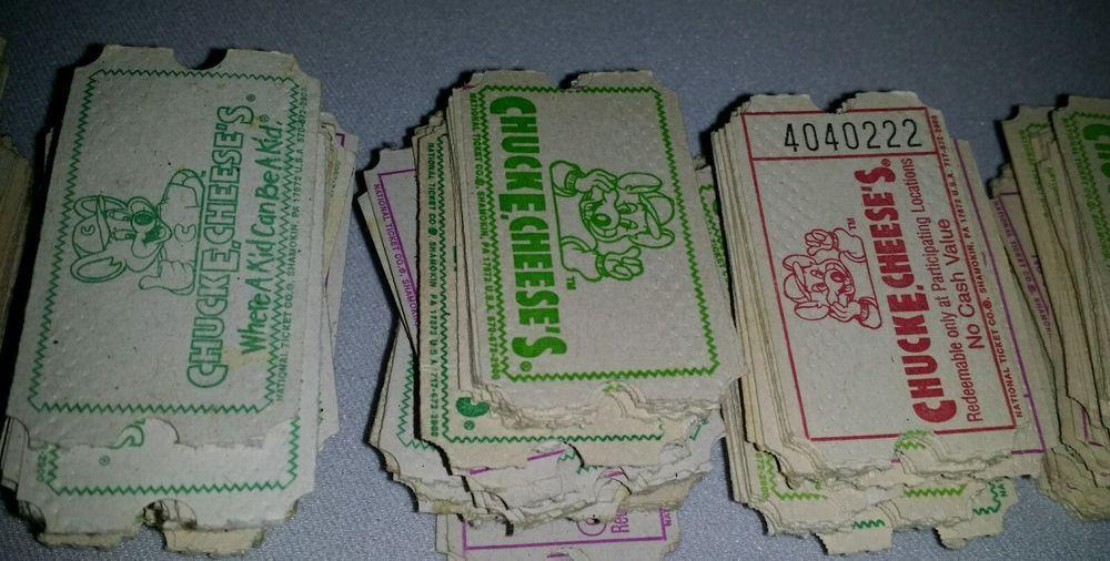 Chuck e cheese discontinued tickets vintage 90s token