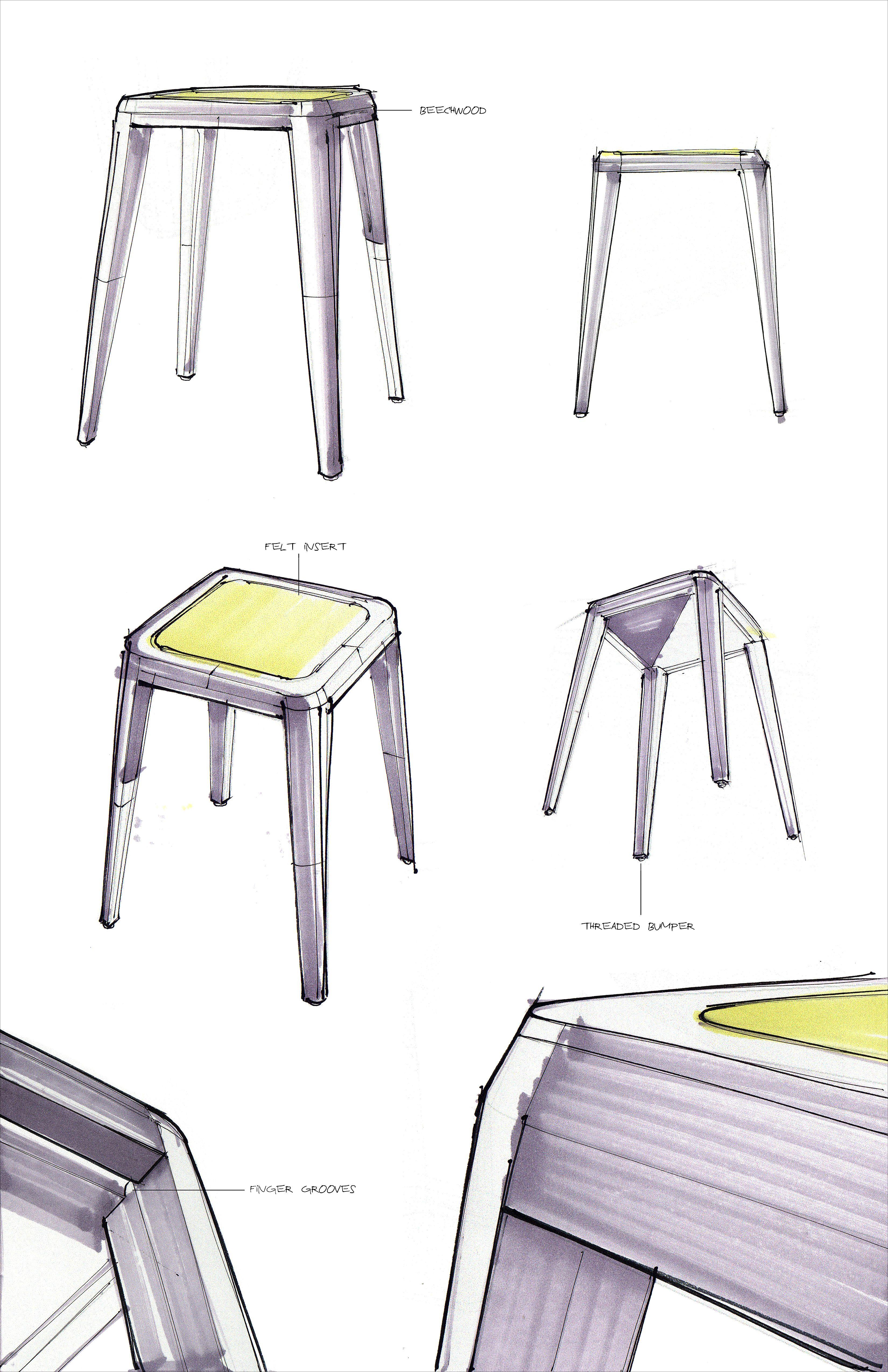 Elma Stool on Behance   Furniture   Industrial design ...
