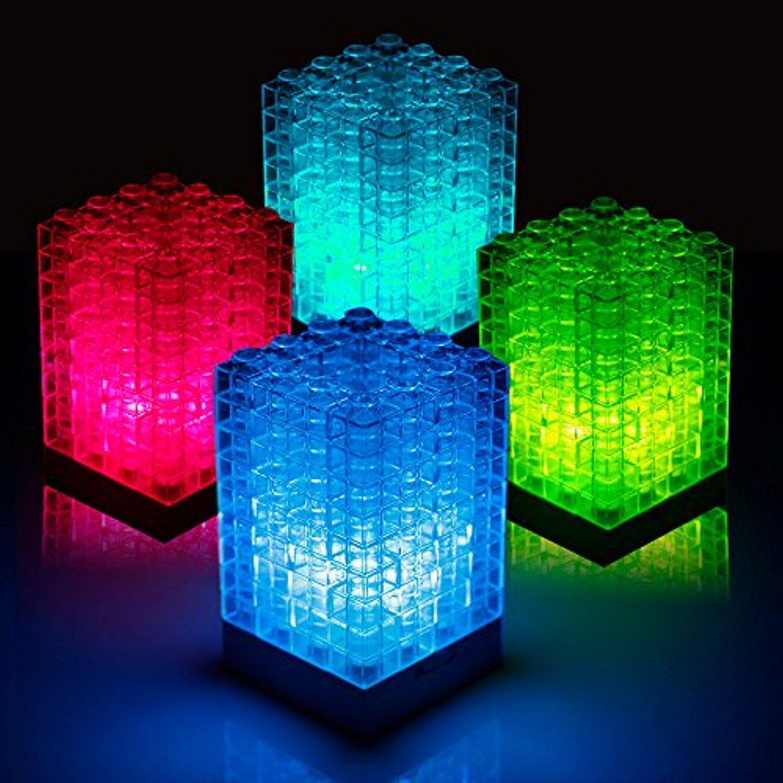 Veesee Building Blocks Night Light Led Mini Table Desk Decor Lamp