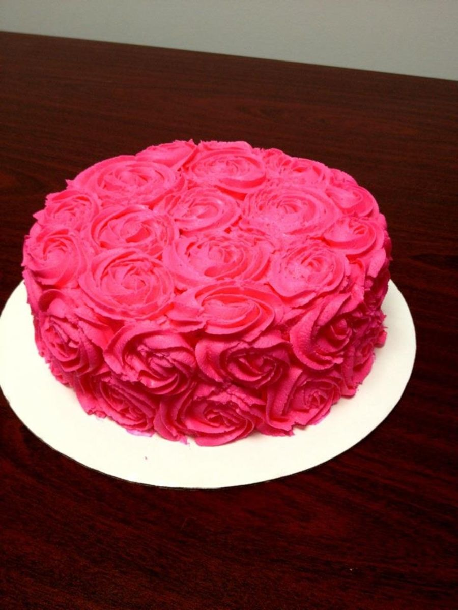 Prime Hot Pink Rose Cake Pink Rose Cake Chocolate Marble Cake Funny Birthday Cards Online Overcheapnameinfo