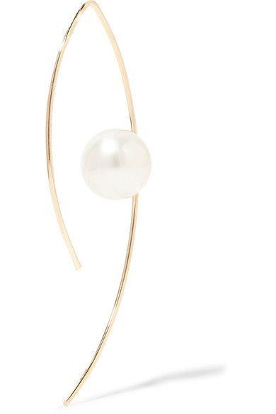 14-karat Gold Pearl Earrings - one size Mizuki QYMkgPj7