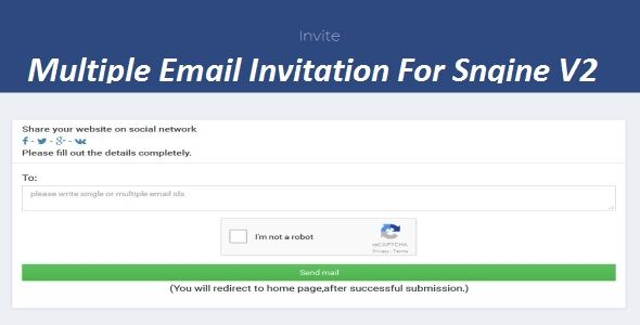 Download Free Multiple Email Invitation For Sngine  Email