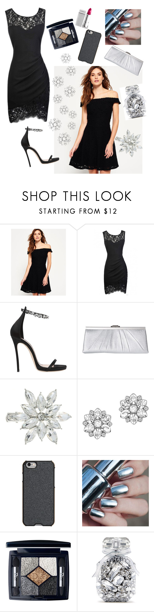 """""""Little black dress"""" by vidonni84 ❤ liked on Polyvore featuring Superdry, Dsquared2, Jessica McClintock, Swarovski, Agent 18, Christian Dior, Victoria's Secret and Lipstick Queen"""