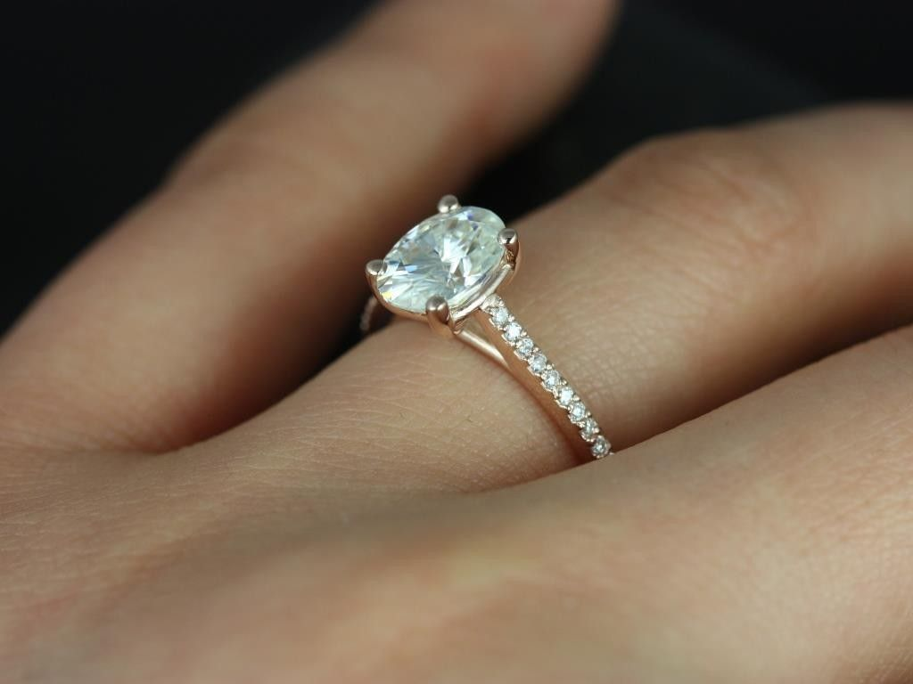 1000 Images About Ring Settings On Pinterest Engagement Rings. Rose Gold  And White Shire Oval ...