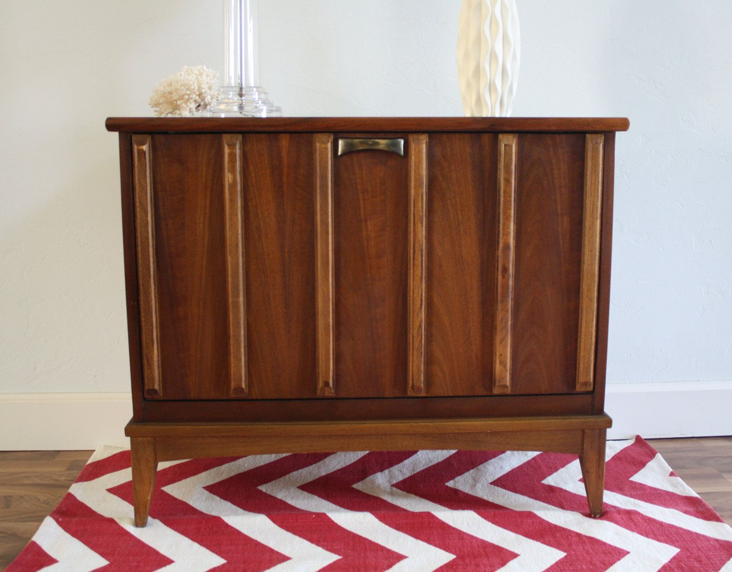 Mid Century Lane Record Cabinet Vintage Modern 275 00 Via Etsy Record Cabinet Mid Century Selling Furniture