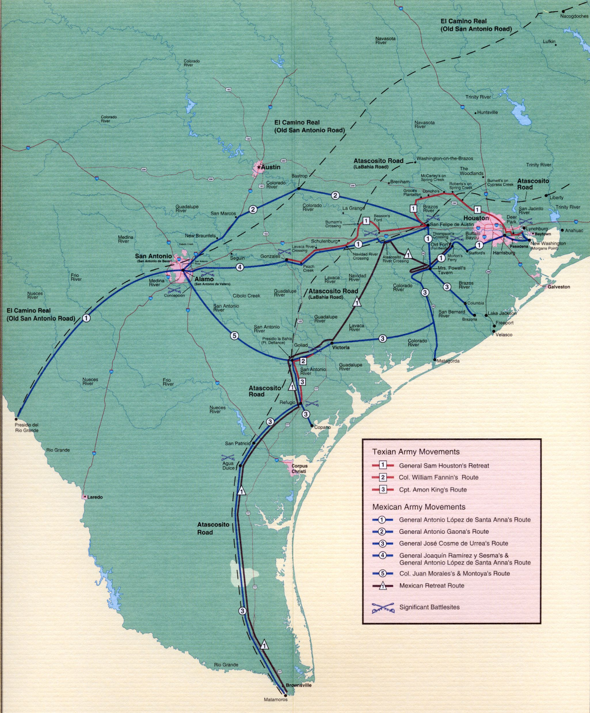 Texas Revolution maps Texas Revolution maps