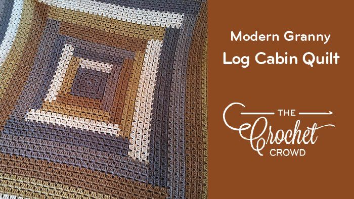 Crochet Log Cabin Quilt Style Modern Granny Afghan Besides Crocheted Blankets I Love The Style Of A Beautiful Handmade Quilt