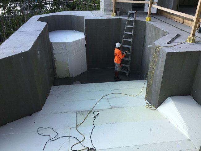 styrofoam cement blocks
